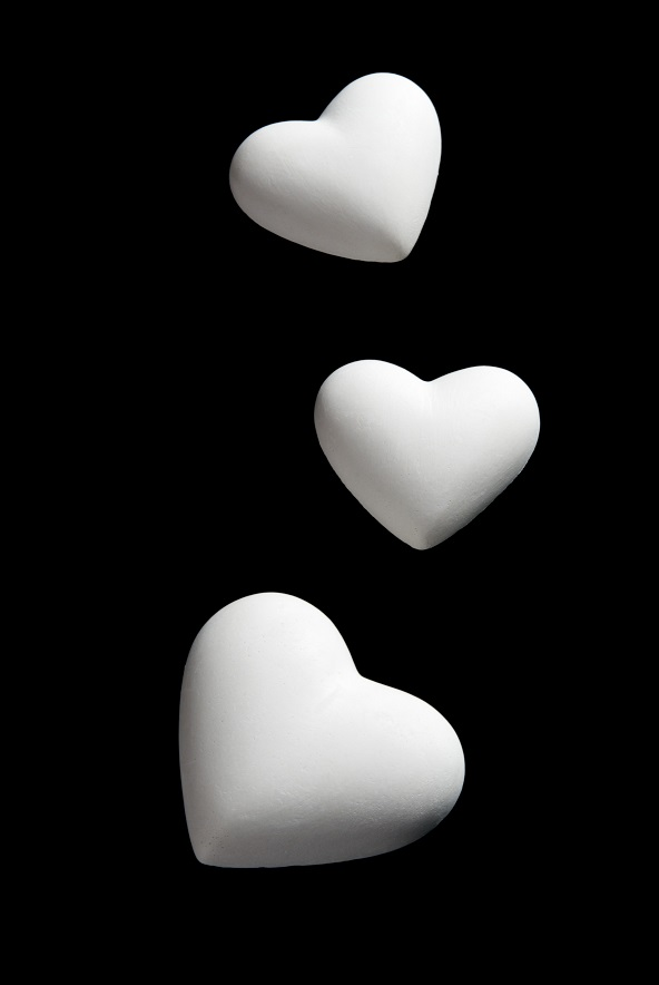 Valentine's Day blank white Hearts