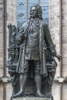 Statue of Sebastian Bach in Leipzig, Germany, summer 2016