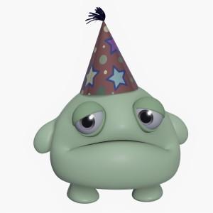 3d cartoon cute holiday green monster