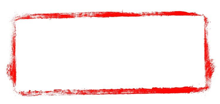 Unordentlicher gemalter Rahmen rot