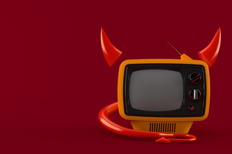 TV with horns and tail