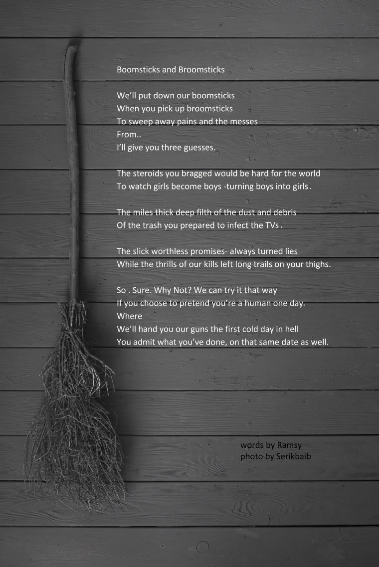 witch's broom, black halloween background